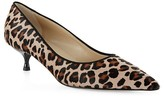 Hobbs London Carrie Leopard Calf Hair Kitten Heel Pumps