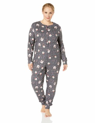 Fruit of the Loom Women's Plus Size Waffle Thermal Union Suit