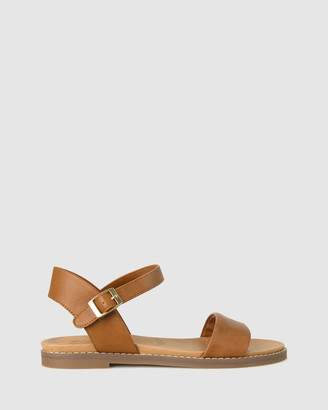 Zeroe - Women's Brown Flat Sandals - Wide Fit Atlas Footbed Sandals - Size One Size, 6 at The Iconic