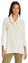 Eyeshadow Women's Stripe Knit Cowl Neck Top