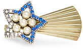 Gerard Yosca Faux Pearl Accented Shooting Star Pin