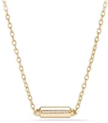 David Yurman Barrels Station Necklace with Diamonds in 18K Gold