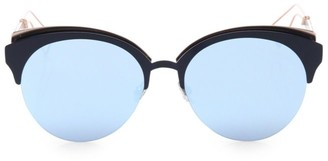 Christian Dior Diorama 55MM Rounded Clubmaster Sunglasses