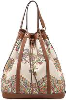 Etro Oversized Paisley Canvas Bucket Bag