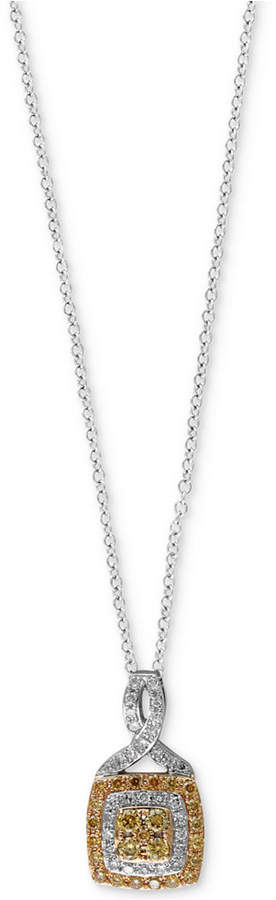 Effy Diamond Pendant Necklace (1/3 ct. t.w.) in 14k Gold & White Gold