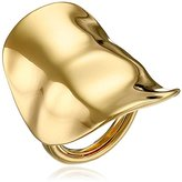 Kenneth Jay Lane Polished Gold Adjustable Ring