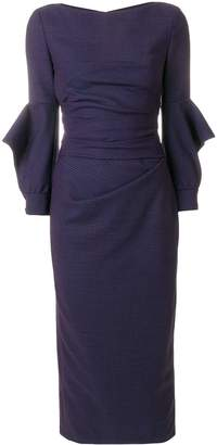 Talbot Runhof fitted midi dress
