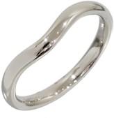 Tiffany & Co. Elsa Peretti Platinum Curved Wedding Ring Size 4.75