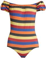 Lisa Marie Fernandez Leandra striped swimsuit