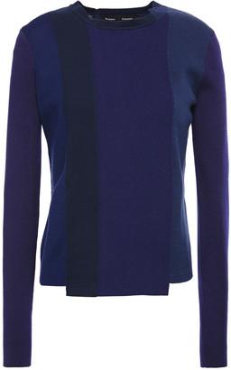 Proenza Schouler Asymmetric Color-block Knitted Sweater