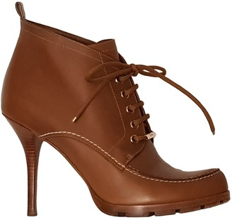 Christian Dior Camel Leather Ankle boots