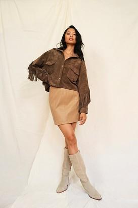 Free People Modern Femme Vegan Suede Mini Skirt