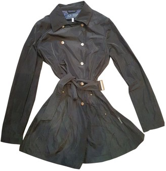 Armani Jeans Black Trench Coat for Women