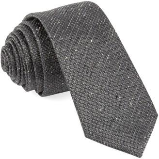 Tie Bar Five Star Solid Grey Tie