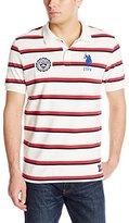 U.S. Polo Assn. Men's Sporty Tri-Stripe Pique Polo Shirt