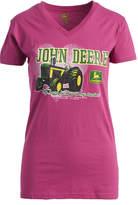 John Deere Fuchsia Heart Short-Sleeve Tee
