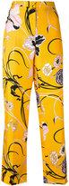 Emilio Pucci floral trousers - women - Silk - 38