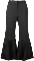 Stella McCartney Pleated Hem Crop Pant
