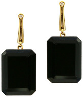 "Joan Hornig Georgie"" Onyx Drop Earrings"
