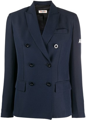 Alberto Biani Double-Breasted Logo Blazer