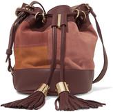 See by Chloe Vicki leather-paneled suede shoulder bag