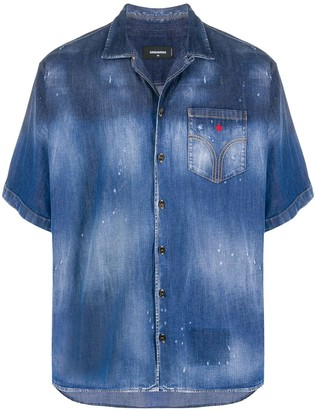 DSQUARED2 Maple Leaf denim shirt