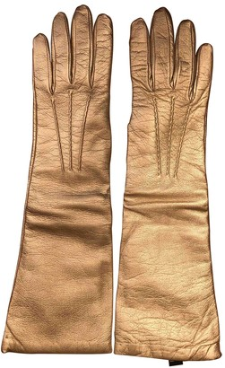 Non Signé / Unsigned Non Signe / Unsigned Gold Leather Gloves