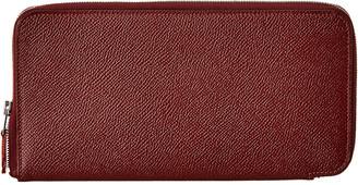 Hermes Brown Epsom Leather Zip-Around Wallet