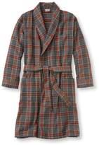 L.L. Bean Men's Scotch Plaid Flannel Robe