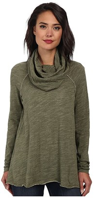 Free People Cocoon Cowl Pullover (Charcoal) Women's Long Sleeve Pullover