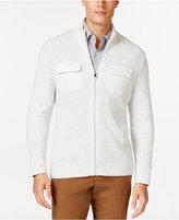Alfani Damon Texture Full-Zip Mock-Neck Sweater, Only at Macy's