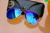 Ray-Ban RB3025 Aviator Large Metal Sunglasses - Size - (Brown Mirror Fucsia Polar)