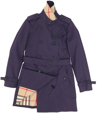 Burberry Purple Polyester Trench coats
