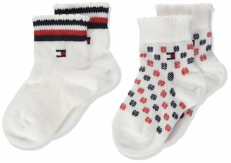 Tommy Hilfiger Baby Girls' Th Sock 2p Cute Calf
