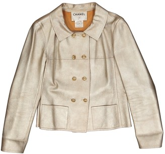 Chanel Gold Leather Jackets