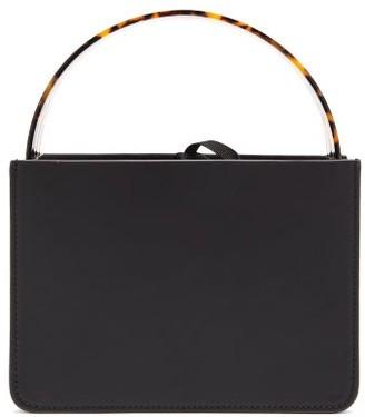 Montunas Guaria Mini Tortoiseshell-handle Leather Box Bag - Womens - Black