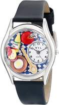 Whimsical Watches Women's S0310001 Gourmet Black Leather Watch