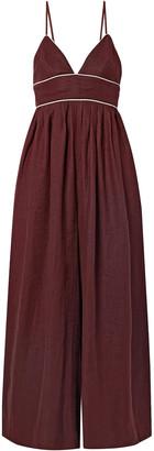 STAUD Figue Linen Jumpsuit