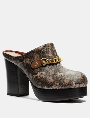 Coach Platform Mule With Horse And Carriage Print