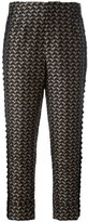 A.F.Vandevorst bird jacquard cropped trousers - women - Polyester - 36