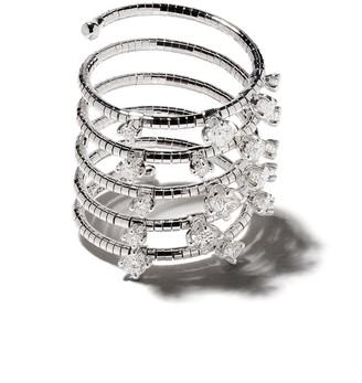Mattia Cielo 18kt rhodium plated white gold and titanium Signature diamond ring