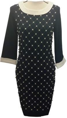 Edward Achour Navy Cotton - elasthane Dress for Women
