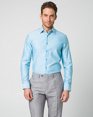 Le Château Tonal Twill Tailored Fit Dress Shirt
