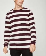 RVCA High Grade Pique Stripe Long Sleeve T-shirt Plum