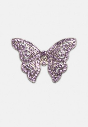 Missguided Butterfly Diamante Ring