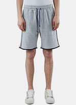 James Long Men's Loopback Embroidered Sweatpants In Grey