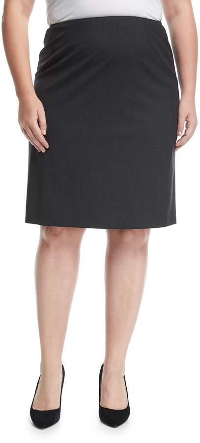 501bd0ef015c Plus Size Stretch Pencil Skirt - ShopStyle