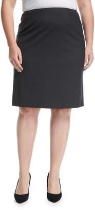 Lafayette 148 New York Plus Plus Size Wool-Stretch Pencil Skirt