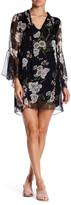 Luma Floral Bell Sleeve Shift Dress