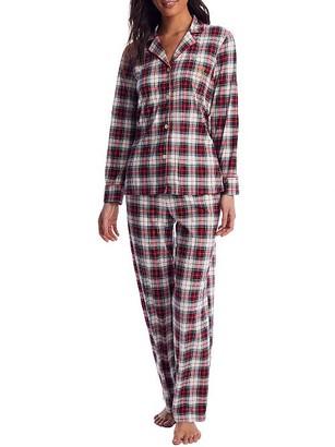 Lauren Ralph Lauren Ivory Plaid Knit Pajama Set